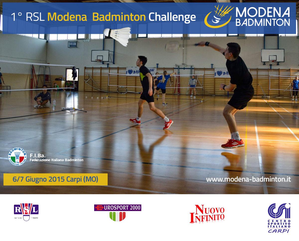 1° RSL Modena Badminton Challenge 2015