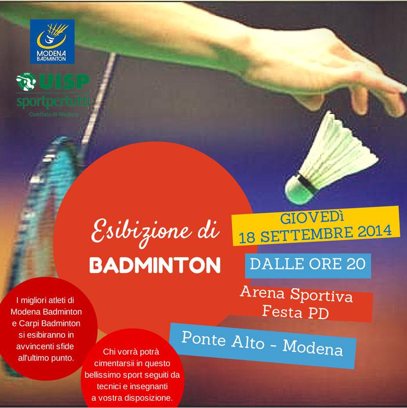 Badminton alla Festa dell'Unita Provinciale a Ponte Alto di Modenaodena