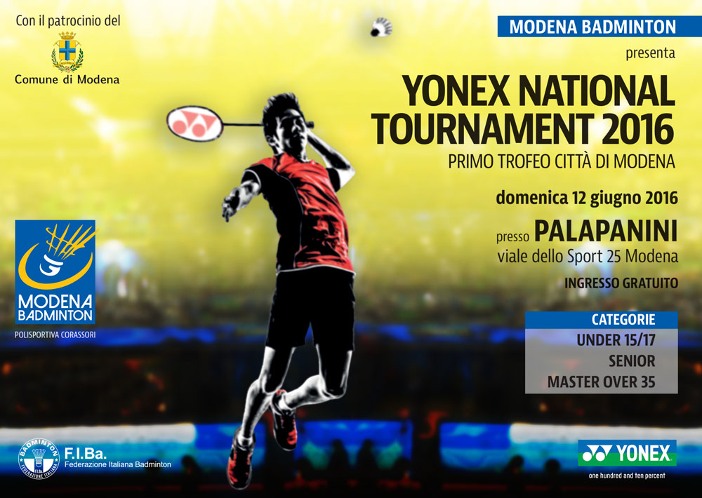 Yonex National Tournament 2016 a Modena