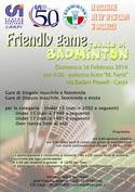 Badminton Friendly Game a Carpi il 16 di febbraio 2014
