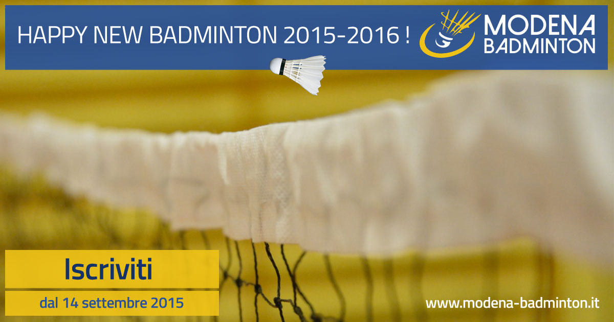 Happy New Badminton 2015-2016