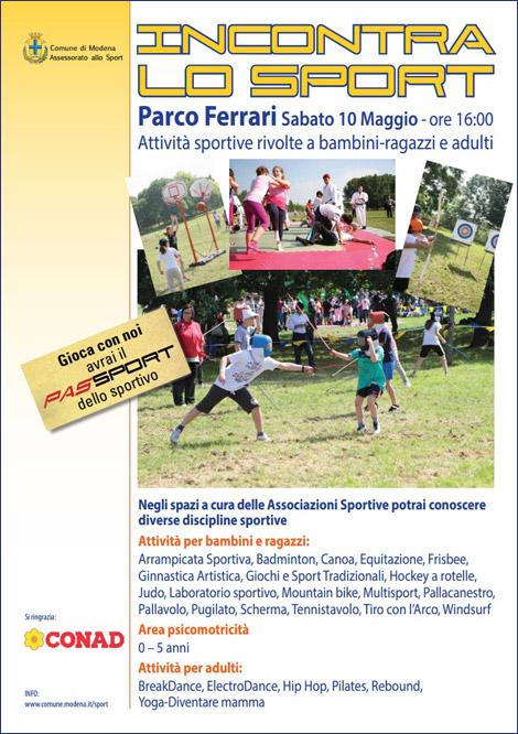 """Anche il badminton durante """"Incontra lo Sport"""" sabato il 9 maggio 2014 nel Parco Ferrari a Modena - dalle ore 16:00"""